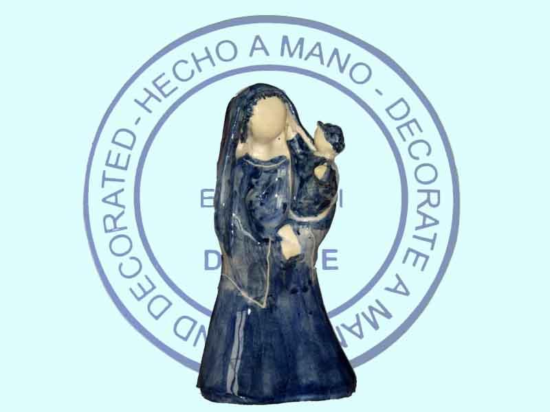 Vierge à l'enfant debout